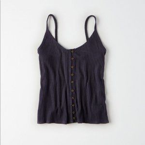 AE- Button Front Tank Top
